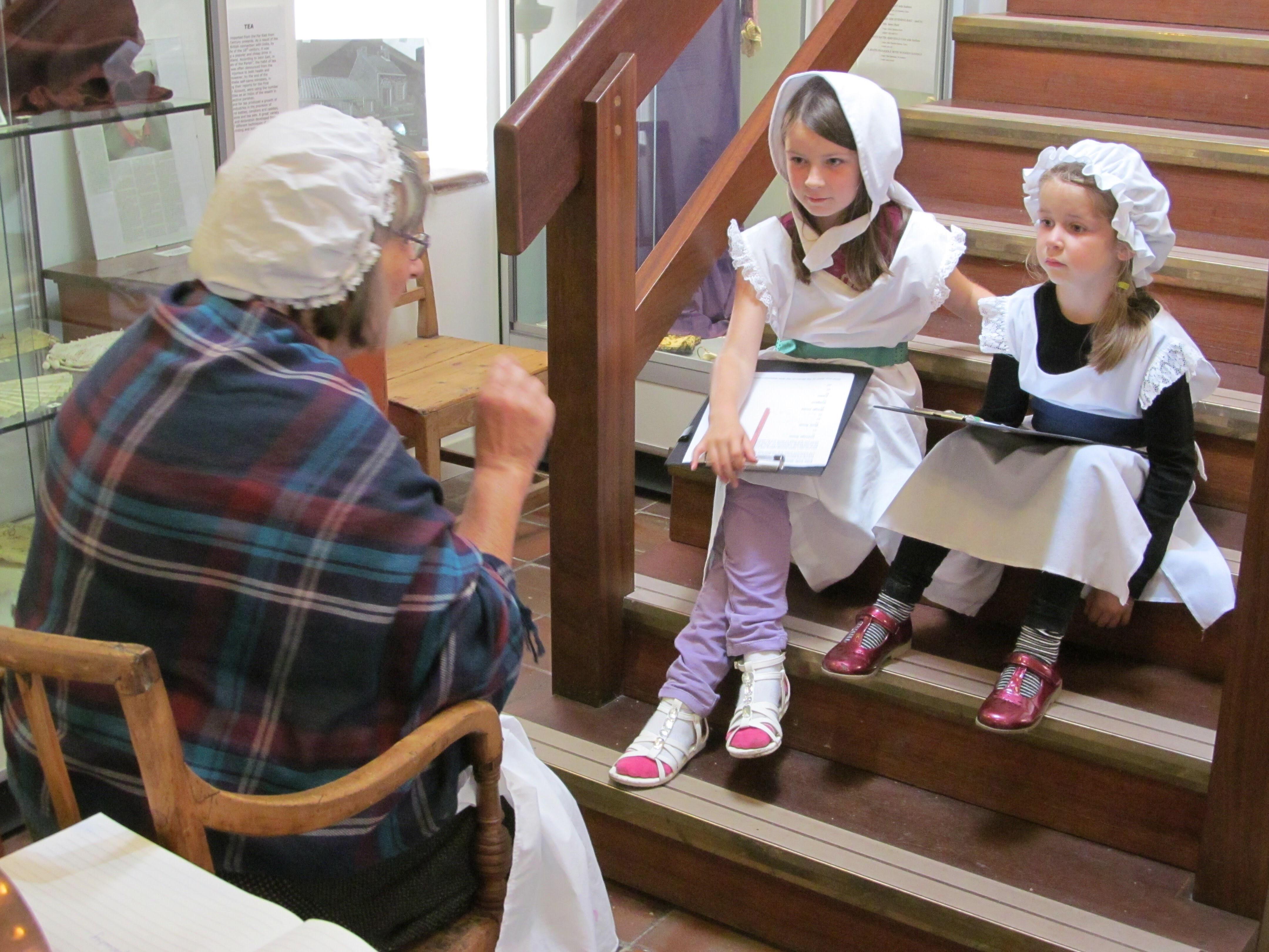 Children listening to story