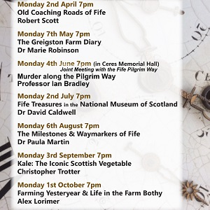 Fife Folk Museum; 2018 Evening Talks poster