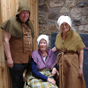 Visitors in costume