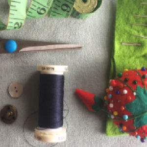 Fife Folk Museum; sewing session