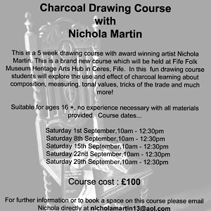 Charcoal drawing classes poster