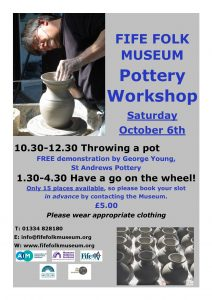 Fife Folk Museum Pottery Workshops poster