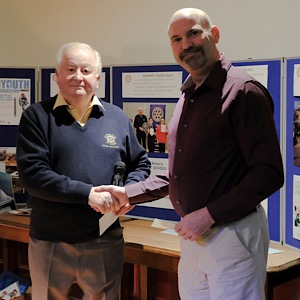 Fife Folk Museum and Cupar Rotary cheque
