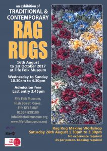 Rag rug exhibition poster