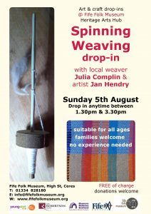 Fife Folk Museum spinning and weaving session poster