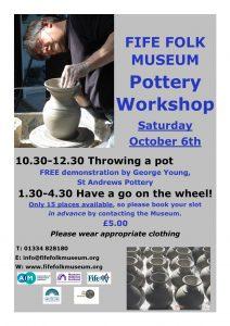Fife Folk Museum Pottery Workshops poster