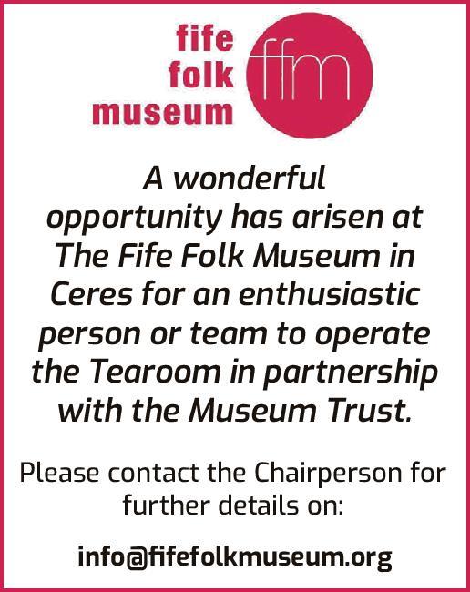 Fife Folk Museum ad for tearoom